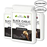 Gluten Free ODORLESS Black Garlic Supplement Tablets for Men & Women. High Potency Equal to 2000mg Fresh Garlic Bulbs. Suitable for Vegan and Vegetarian. 3 Bottles Review