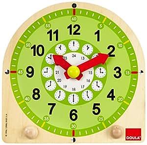Goula - Reloj escolar de madera (Diset 55125)
