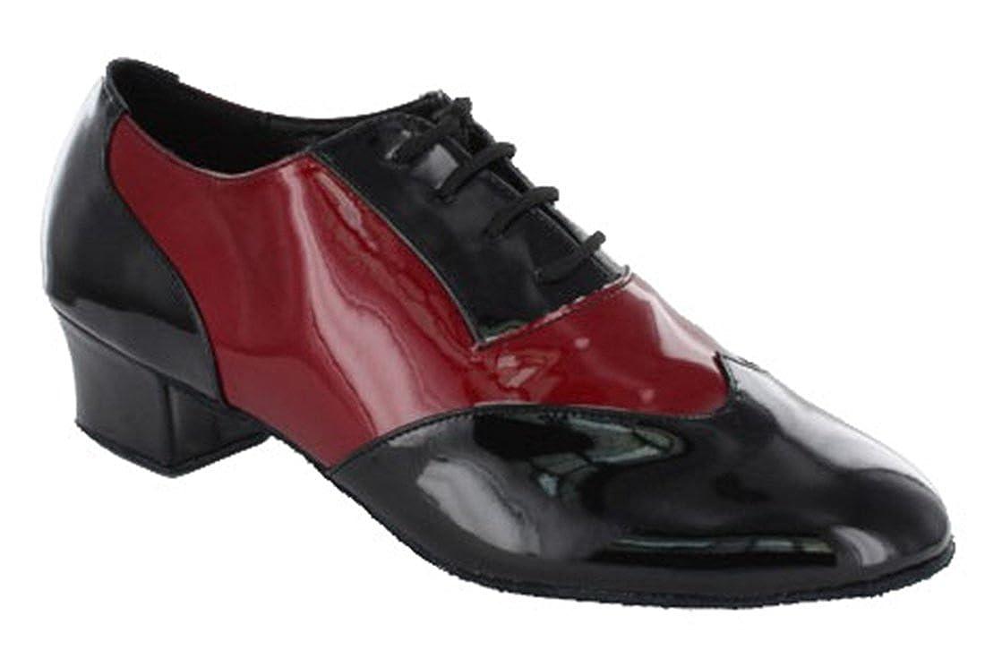 TDA Men's Fashion Closed Toe Lace-up Leather Salsa Tango Ballroom Latin Dance Shoes