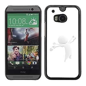 Paccase / SLIM PC / Aliminium Casa Carcasa Funda Case Cover para - White Abstract - HTC One M8