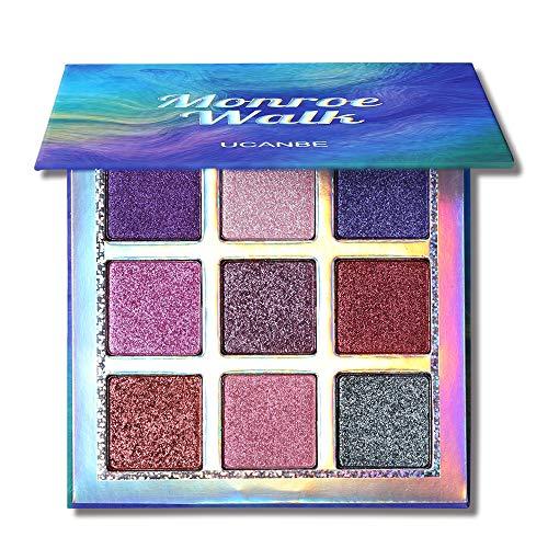 UCANBE Professional Eye shadow Palette Pigmented Matte Shimmer 9 Colors Eyeshadow Palette Blendable Waterproof Long Lasting Eye Shadow Makeup (Monroe Walk)