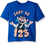 Sesame Street Little Boys' Toddler Short Sleeve T-Shirt, Royal, 3T