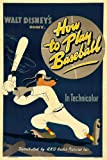 GOOFY HOW TO PLAY BASEBALL MOVIE POSTER Rare Vintage