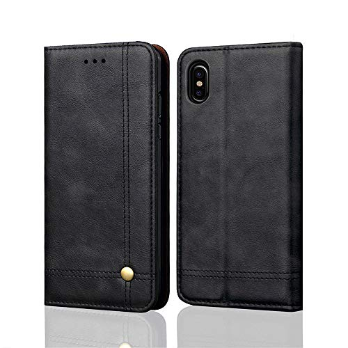 Price comparison product image Buybuybuy Apple iPhone XS Max Case, Leather Flip Case Protective Cover Shockproof Shatterproof Cover Slim Luxury Business Cover Wallet Cases Card Slot Holder Apple iPhone XS Max 6.5inch (Black)