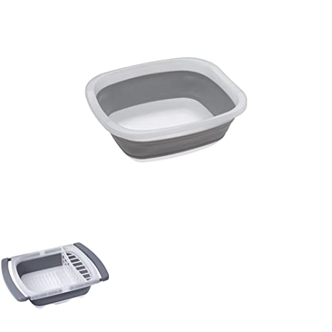 Prepworks By Progressive Collapsible Pop Up Portable Dish Tub And Over The Sink  Dish
