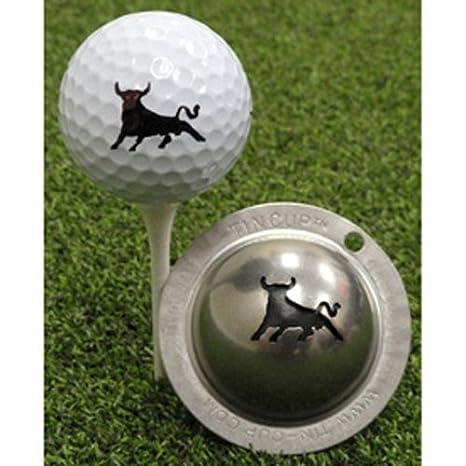 .com : tin cup bull market golf ball marking stencil, steel ...