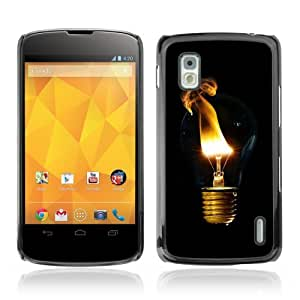 YOYOSHOP [Cool Light Bulb Smoke] LG Google Nexus 4 Case