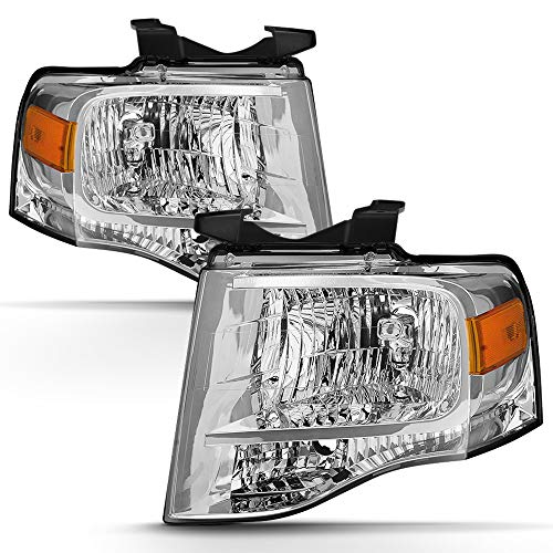 ACANII - For 2007-2014 Ford Expedition Headlights [OE Factory Style] 07-14 Replacement Headlamps Driver + Passenger Side - Ford Expedition Headlight Assembly