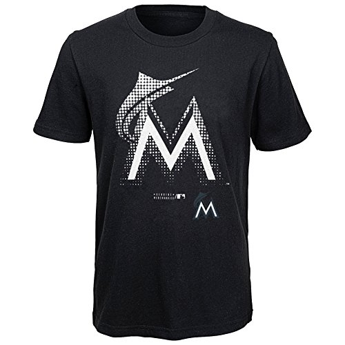 MLB  Miami Marlins Youth Boys 8-20 Let Your Team Shine  Tee-M (10-12) – DiZiSports Store
