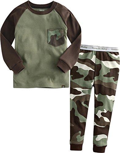 Vaenait Baby 12M-7T Kids Boys Sleepwear Pajama 2pcs Set Pocket Camo XL