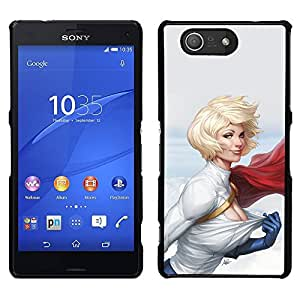 LECELL--Funda protectora / Cubierta / Piel For Sony Xperia Z3 Compact -- sexy rubia mujer Chica Virgen muscular --