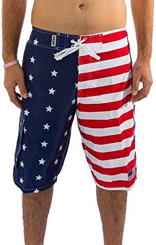 Patriotic American USA FLAG Board Shorts/Swim Trunks 4113 2XL