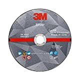 3M Silver Cut-Off Wheel, 87660, T27, 4.5 in x .045 in x 7/8 in, Single Pack, Precision Shaped Ceramic Grain, Coating, Cut, Cutting Angle, Flute, Black