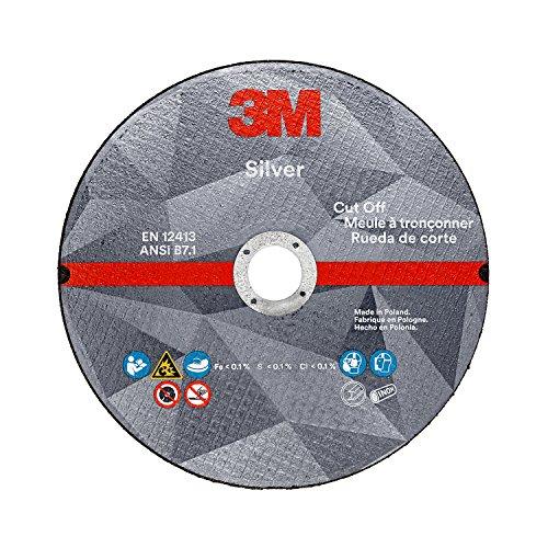 3M Silver Cut-Off Wheel, 87660, T27, 4.5 in x .045 in x 7/8 in, Single Pack, Precision Shaped Ceramic Grain, Coating, Cut, Cutting Angle, Flute, Black by 3M
