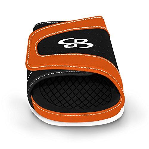 Sandbah Mens Sandbah Sandbah Sandales - 32 Options De Couleurs - Plusieurs Tailles Noir / Orange