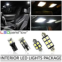 LEDpartsNow Interior LED Lights Replacement for 2013-2018 Hyundai Santa Fe Accessories Package Kit (9 Bulbs), WHITE