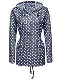 zip up rain coat - Zeagoo Women Waterproof Mountain Jacket Fleece, Scratchproof Outdoor Sports Zip up Rain Coat Blue White XL