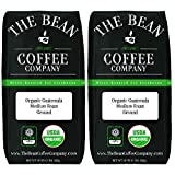 The Bean Coffee Company Organic Guatemala, Medium Roast, Ground, 16-Ounce Bags (Pack of 2)
