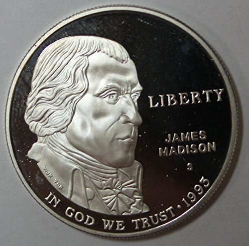 1993 S James Madison Silver Commemorative Dollar $1 Proof ()