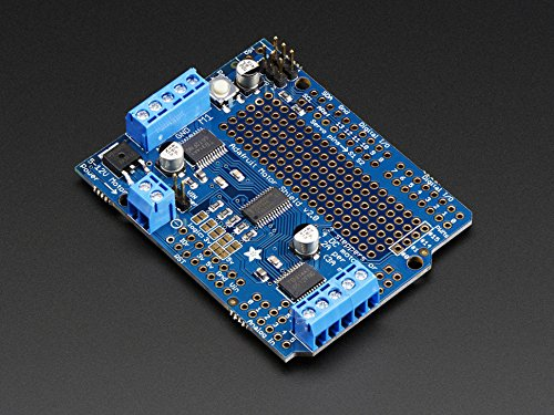 Adafruit Motor/Stepper/Servo Shield for Arduino v2.3 Kit (Best Arduino Motor Shield)