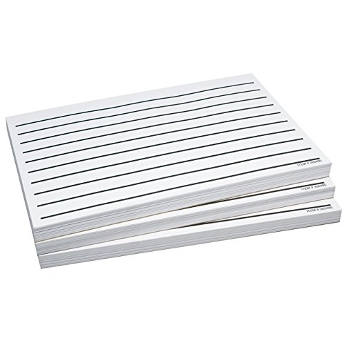 Three Packs Low Vision Thick Line Writing Paper, 5.5 x 8.5 ()