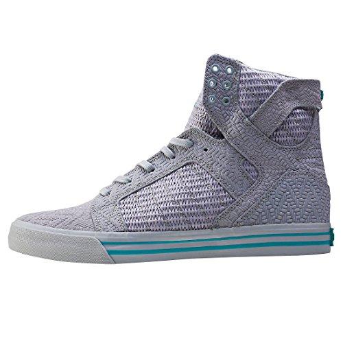 Supra Skytop Medium Sneaker Hellgrau - Hellgrau