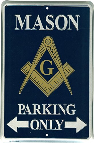 (Tags America Mason Parking Only Novelty Metal Sign for Garage Bar Office Porch Lawn)