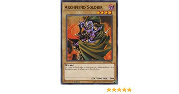 """YS15-ENL02 COMMON One Card ONLY! 1st Edition YuGiOh: /""""Archfiend Soldier/"""""""