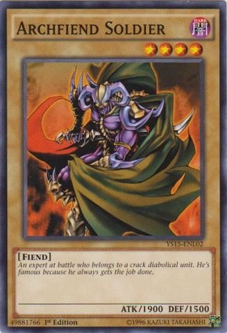 Yu-Gi-Oh! - Archfiend Soldier (YS15-ENL02) - Starter Deck: Dark Legion - 1st Edition - Common
