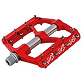 FOOKER MTB Bike Pedals Mountain Non-Slip Bike Pedals Platform Bicycle Flat Alloy Pedals