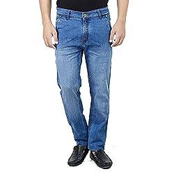Savon Men's Slim Fit Stretch Denim Jeans (1041A) 28 Blue