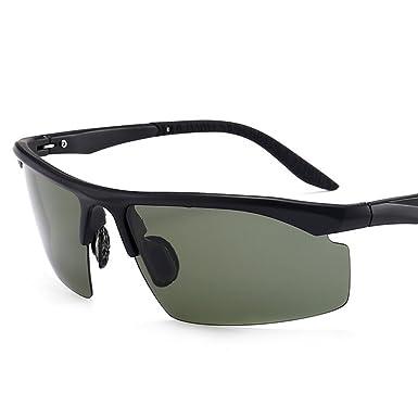 Flieger Polarisierte Sonnenbrille mit leichtem Metallrahmen 100% UV 400 Schutz Dunkelgrün Polarisierte Sonnenbrille für Männer und Frauen (grau) brlx5Acq4B