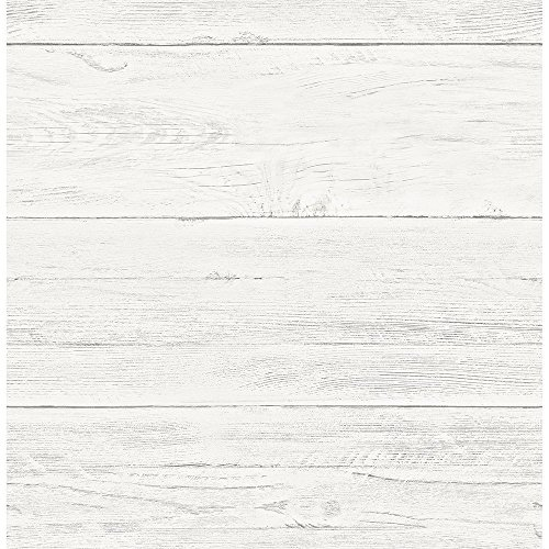 A-Street Prints 2701-22307 White Washed Boards Cream Shiplap