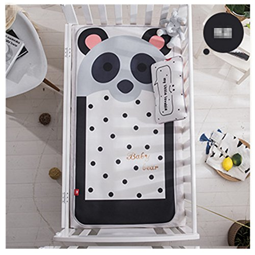 Baby Summer Sleeping Mat Cartoon Crib Mattress Pads 47'' with Pillow (Panda)]()