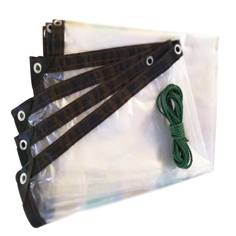 0.8x1.8m YINUO épaissir Poncho BÂche En Plastique Auvent Tissu Parasol Prougeection solaire Tricycle Couverture Camion BÂche Transparent (Taille   2.8x5.8m)