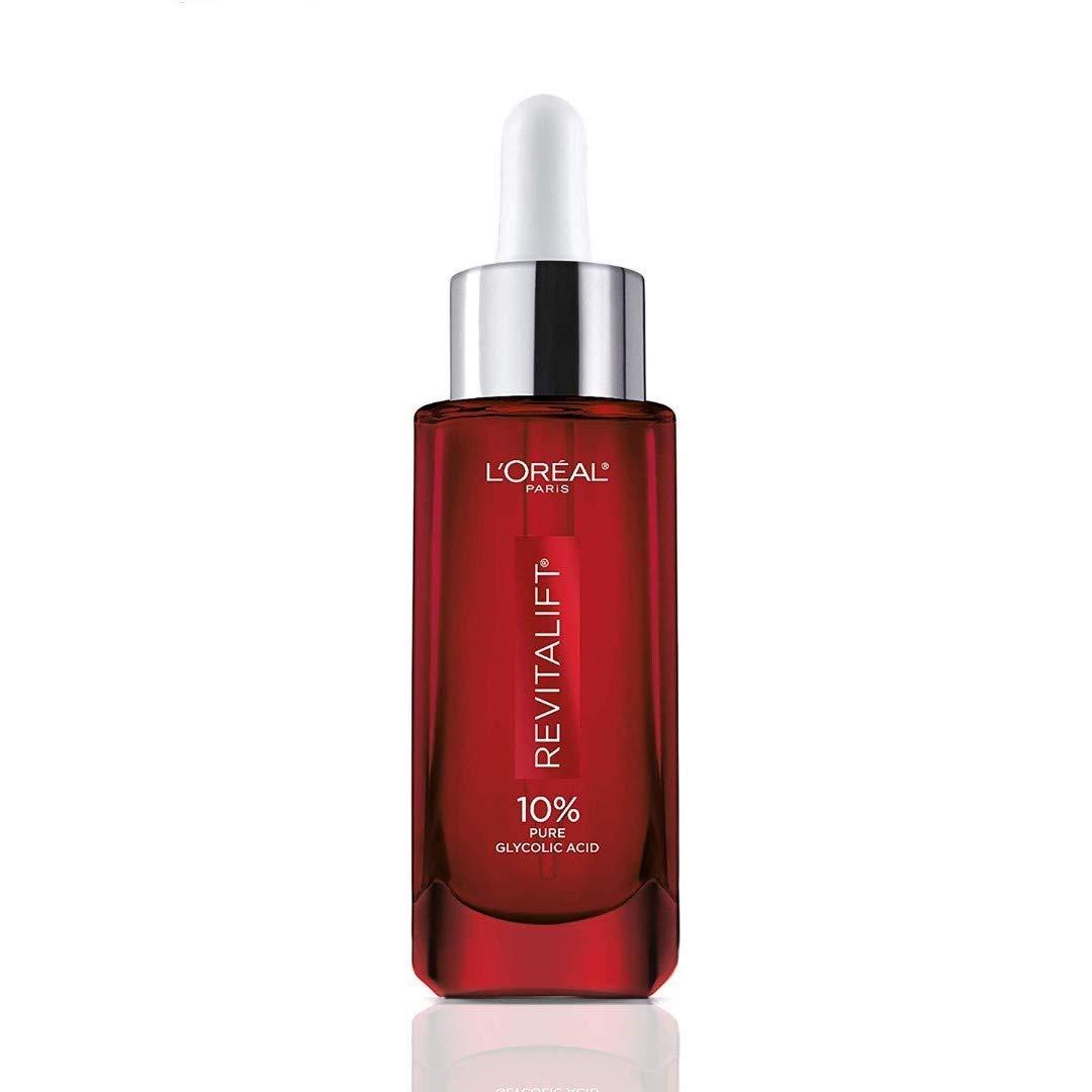 L'Oreal Paris Pure Glycolic Acid Face Serum Skin Care I Revitalift Derm Intensives 10% Pure Glycolic Acid Serum I Dark Spot Corrector To Even Tone & Reduce Wrinkles I 1.0 Oz