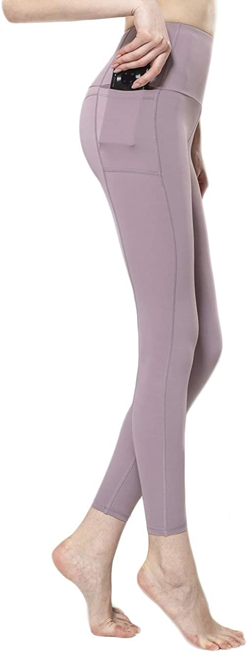 ACTIVE.WEAR Women Legging with Pockets,Girl Running Tight Pant,High Waist,Tummy Control,4 Way Stretch,Non See-Through T2201