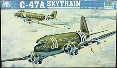 Trumpeter 1:48 C-47 A Skytrain Aircraft Plastic Model Kit #02828