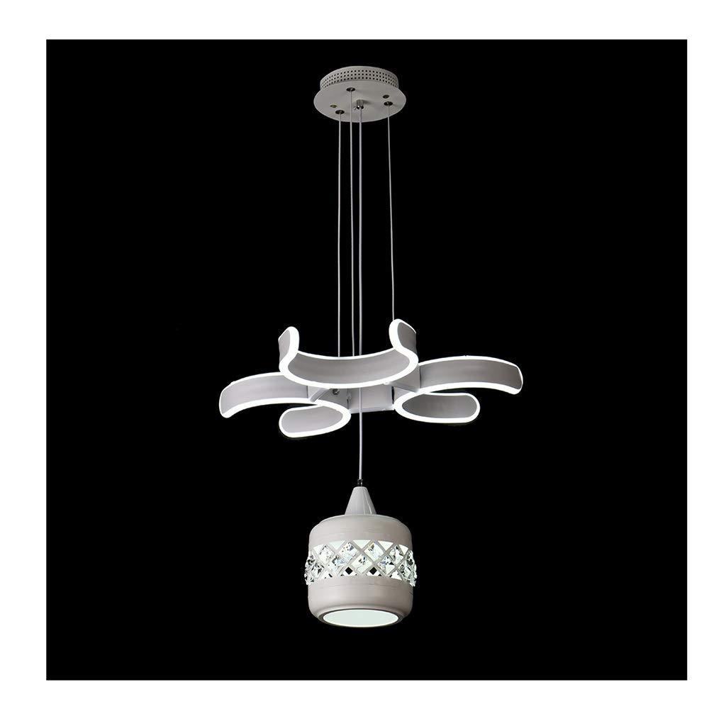 シーリングライト シャンデリア、LED現代天井シンプルなダイニングルームの寝室のシャンデリアの高さ吊りワイヤー調整可能ランプシャンデリア [エネルギークラスA ++] (Color : Warm light)  Warm light B07TL8FLVM
