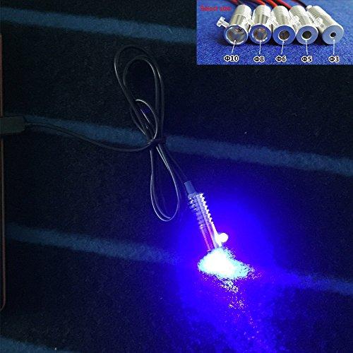 Rayauto 6mm Blue 12V Car Home Novelty USB led Light Source Illuminator for Side Glow Optic Fiber