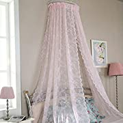 WinnerEco Elegance Voile Door Panel Door Window Sheer Curtain Drape Panel Leaf Voile Tulle Scarfs Pink