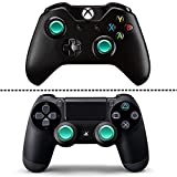 Quartet trade Metal Joysticks Replacement Analog Thumbstick for Xbox One/ PS4 Controllers(Set of 2) (Green)