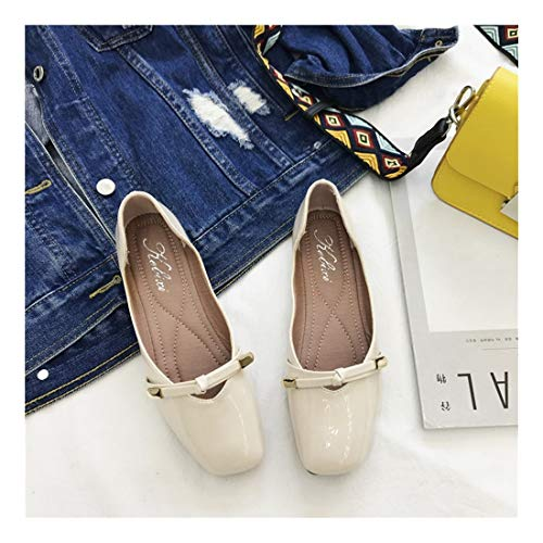 Wild Soft De Plaza Superficial Bow Zapatos C Grid Guisantes Piso WULIFANG Inferior 0wEpq7xHH