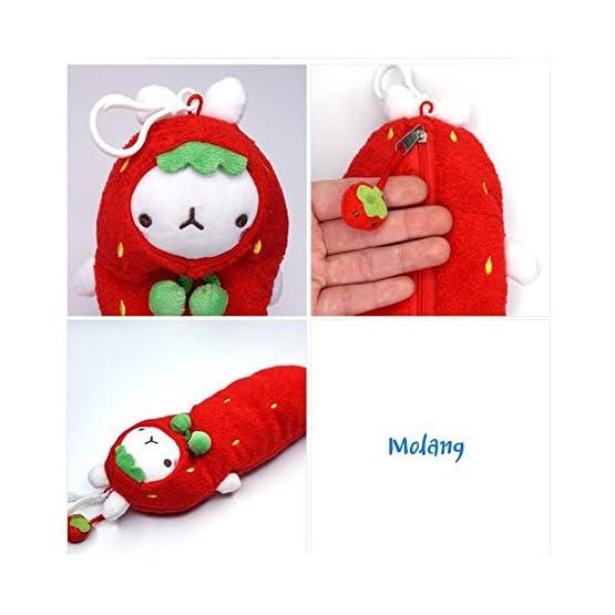 Molang – Strawberry | 10 Inch | Kawaii Pencil Case 5