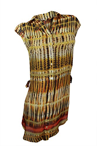 Da-Nang Women's Yellow Multi Demeter Stripe Shirt Dress,, used for sale  Delivered anywhere in USA