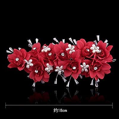KPHY-La Mode D'Artisanat De Perles De Perles Mariée Des Cheveux Des Femmes Des Fleurs Fraîches Du Tissu Des Cheveux
