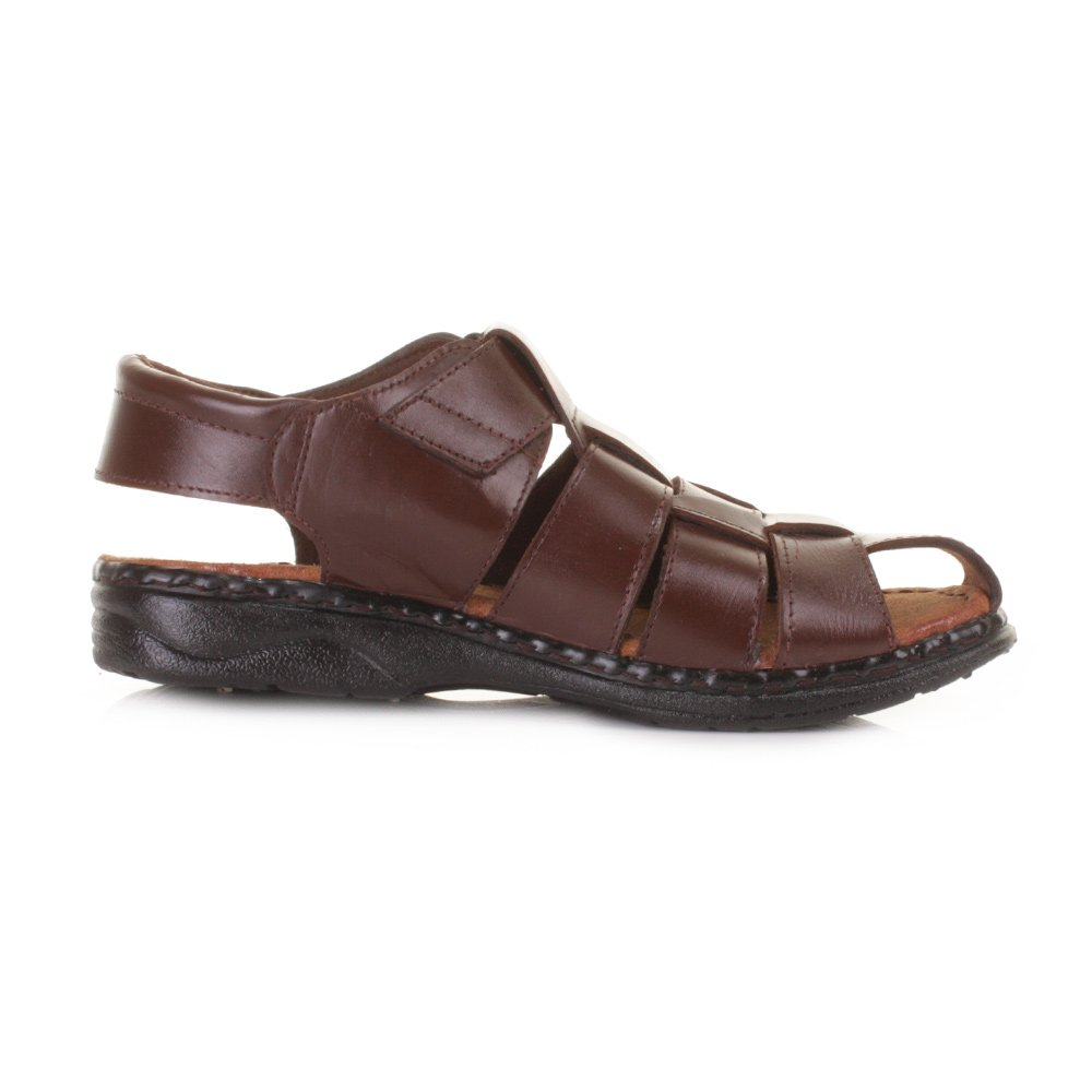Mens Fisherman Leather Summer Sandals SIZE 12
