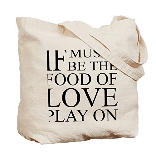 CafePress–music-food-love cita–Gamuza de bolsa de lona bolsa, bolsa de la compra