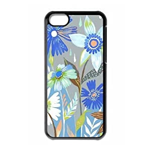 Binocara Daisy Pattern iPhone 5C Cases Daisy Paints Cheap For Boys, Case For Iphone 5c For Men, [Black]