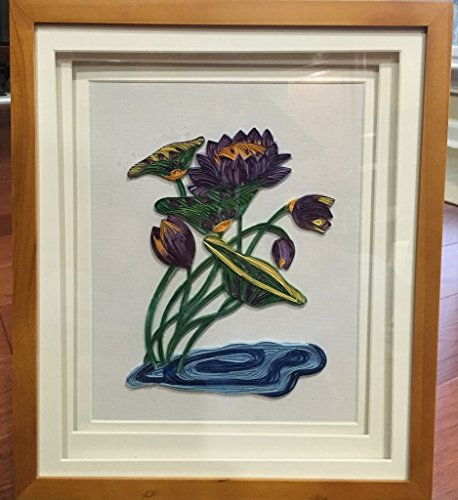 Paper Quilling art in a Shadow Box